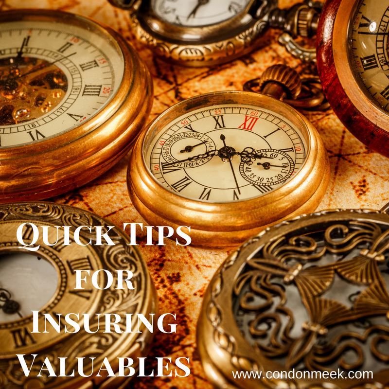 Quick Tips for Insuring Valuables